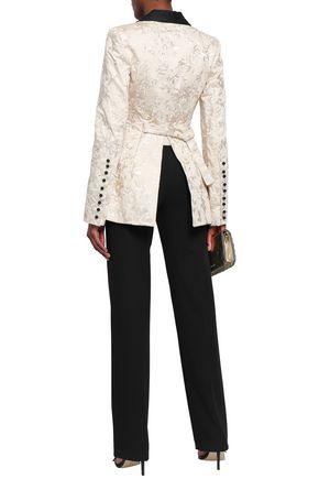 ZIMMERMANN Maples button-detailed embroidered cotton blazer