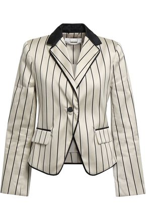 ZIMMERMANN Striped cotton-blend satin blazer