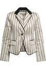 ZIMMERMANN Striped cotton-blend satin blazer