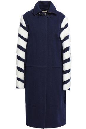 BY MALENE BIRGER Shearling-paneled wool-blend tweed coat