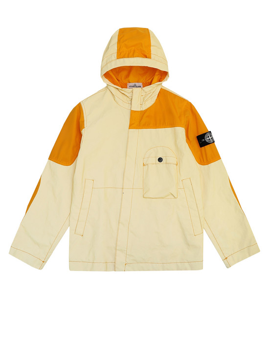 캐주얼 재킷 41336 GARMENT DYED PLATED REFLECTIVE  STONE ISLAND JUNIOR - 0