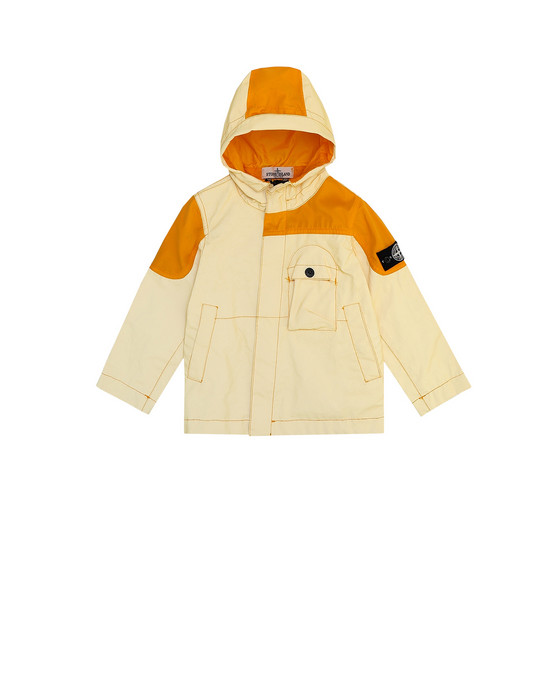 Jacket 41336 GARMENT DYED PLATED REFLECTIVE  STONE ISLAND JUNIOR - 0