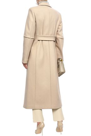JOSEPH Double-breasted wool-blend felt coat
