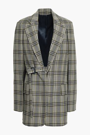 JOSEPH Checked virgin wool blazer