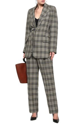 JOSEPH Gemina belted checked wool blazer