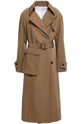 JOSEPH Double-breasted virgin wool-gabardine trench coat