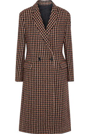 DEREK LAM Checked wool-blend tweed coat