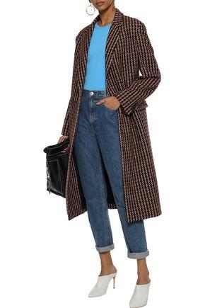 DEREK LAM Checked wool-blend tweed coat