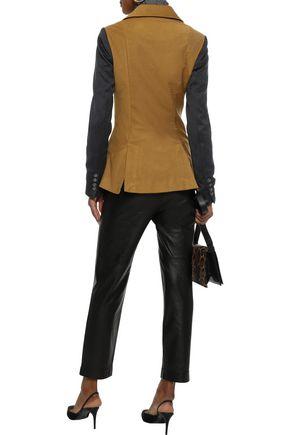 MARISSA WEBB Haydee double-breasted two-tone cotton-blend twill blazer