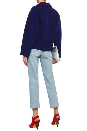 LOVE MOSCHINO Button-detailed wool-blend felt coat