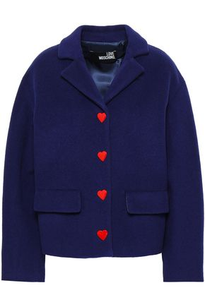 LOVE MOSCHINO Button-detailed wool-blend felt coat