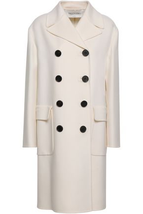 VALENTINO Double-breasted wool and cashmere-blend felt coat