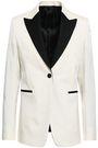 VALENTINO Satin-trimmed wool-blend twill blazer