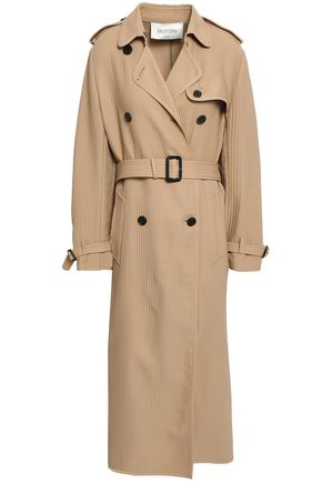 VALENTINO Quilted silk-crepe trench coat