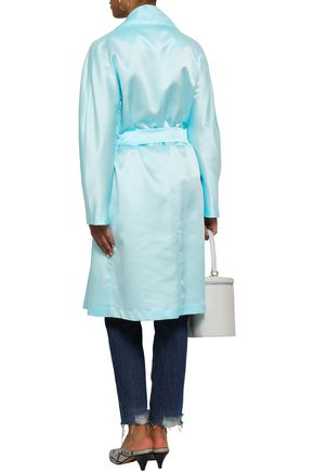 AINEA Belted satin trench coat