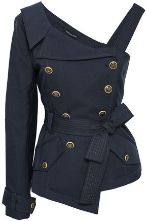 MARISSA WEBB Kendrick asymmetric double-breasted belted twill jacket