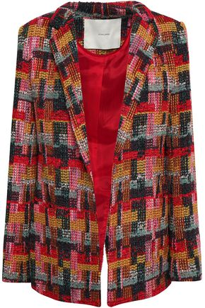 ADAM LIPPES Bouclé-tweed blazer