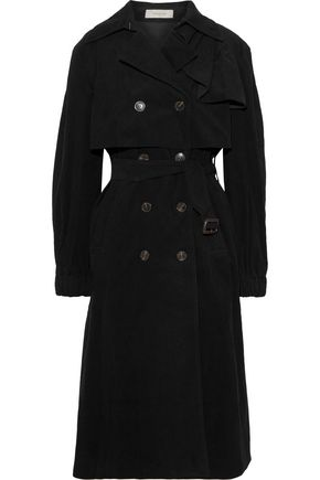 PREEN LINE Mia ruffle-trimmed cotton-corduroy trench coat