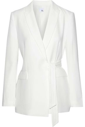 IRIS & INK Wrap-effect belted cady blazer