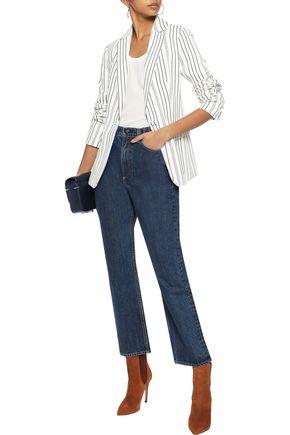 FRAME Striped jacquard blazer