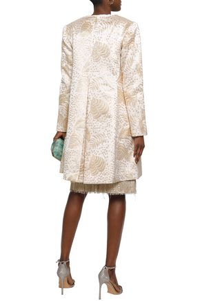 ISOLDA Metallic jacquard coat