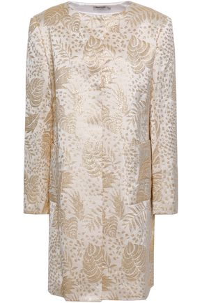 ISOLDA Metallic jacquard coat