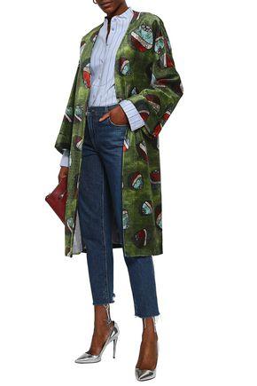 STELLA JEAN Printed velvet robe