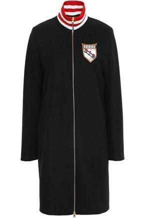 STELLA JEAN Appliquéd felt turtleneck coat