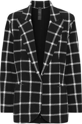 NORMA KAMALI Checked crepe blazer