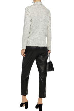 MAJESTIC FILATURES Mélange stretch-linen blazer