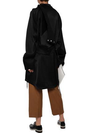 MARNI Convertible satin-crepe hooded jacket