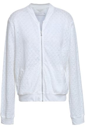 MAJESTIC FILATURES Embroidered linen-jersey bomber jacket