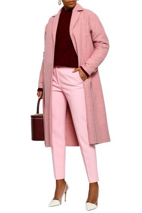 VICTORIA BECKHAM Mélange brushed-wool coat