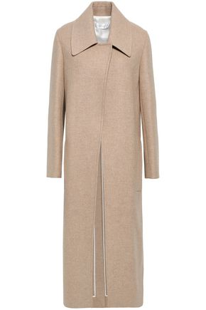 VICTORIA BECKHAM Mélange brushed wool and cashmere-blend coat