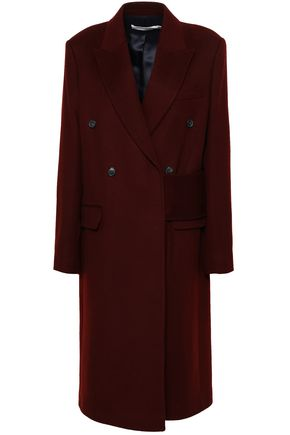 VICTORIA BECKHAM Double-breasted brushed-wool coat