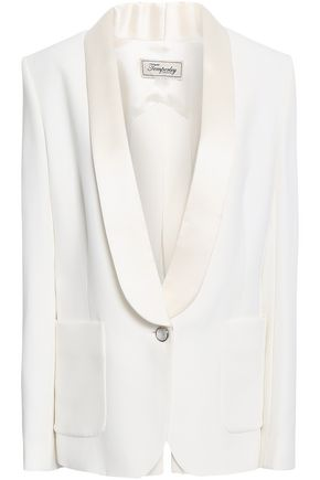 TEMPERLEY LONDON Satin-trimmed crepe blazer