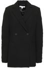 ROBERT RODRIGUEZ Double-breasted ruched crepe blazer