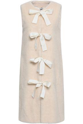 SHRIMPS Bow-detailed faux shearling vest
