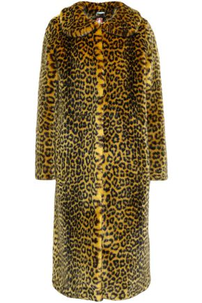 SHRIMPS Leopard-print faux fur coat