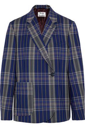 ACNE STUDIOS Keira oversized checked jacquard blazer
