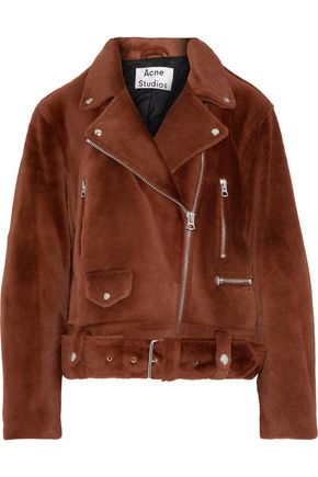 ACNE STUDIOS Merlyn She shearling biker jacket