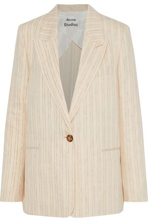 ACNE STUDIOS Kristha striped linen-blend blazer
