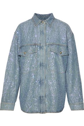 ACNE STUDIOS Raehmon sequined denim shirt
