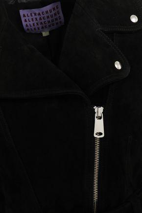 ALEXACHUNG Suede biker jacket