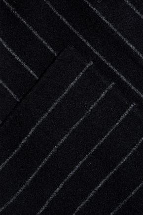 DIANE VON FURSTENBERG Pinstriped wool-blend felt coat
