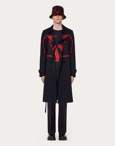 TRENCH COAT WITH VLOGO PRINT