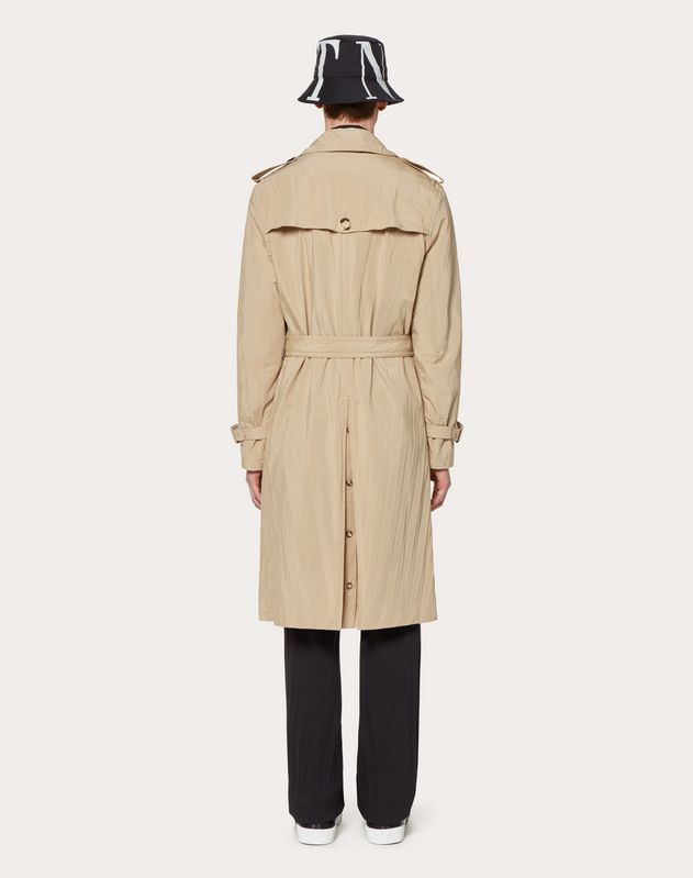 PLEATED TRENCH COAT