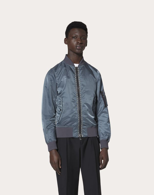 ROCKSTUD UNTITLED NYLON BOMBER JACKET