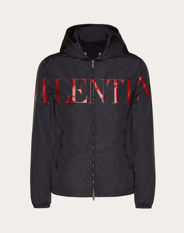 WINDBREAKER WITH VALENTINO PRINT