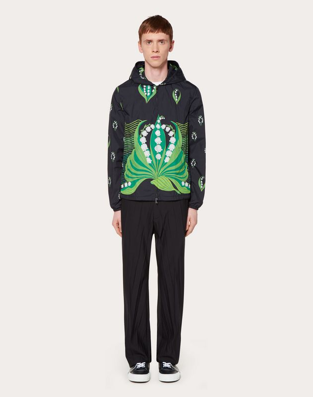 WINDBREAKER WITH LILY V PRINT
